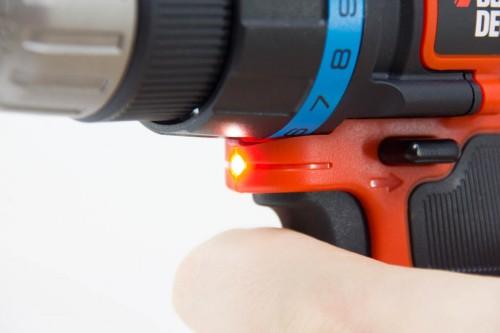 Akkuschrauber mit LED-Arbeitsleuchte